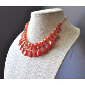 Red teardrops Necklace - New -